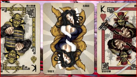 Heroes of Japan Playing Cards by kardeck-playingcards