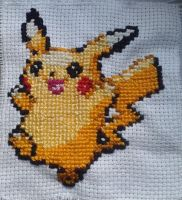 Cross-Sewing - Pikachu by Aminellelia