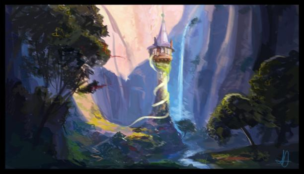 Tangled Tower - Painting by nataliebeth