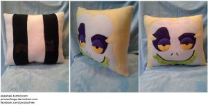 Beetlejuice Square Face Pillow by PrinceOfRage