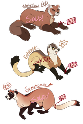 Mustelid Adoptables [SOLD] by Machati
