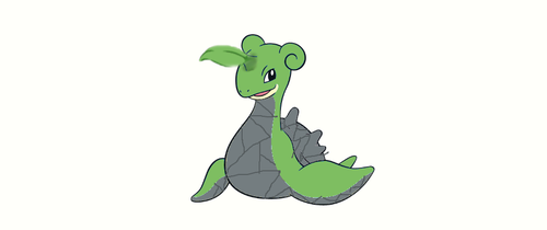 Grass and rock type lapras. by MoonMinun246
