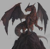 Magma Dragon by mrNepa