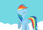 Rainbow Dash Love Face by Mixermike622