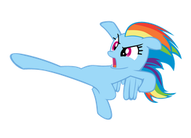 Rainbow Dash High Kick by Bronyboy