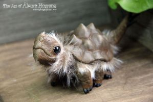 Brown tarasque hatchling! by AlvaroFuegoFatuo