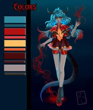Adoptable Auction_Blue-Demon [OPEN] by Allen-Jiyu