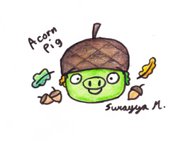 Acorn Pig by SierraStorms