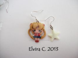 Sailor Moon earrings (available on etsy) by elvira-creations