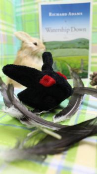 Black Rabbit of Inle Watership Down Plush For Sale by DumbFluffStuff