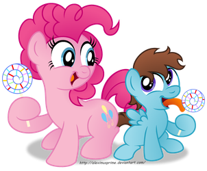 Commission:  You like that lollipop?! by AleximusPrime