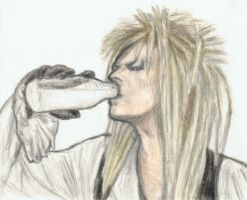 Jareth drinking milk by gagambo
