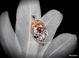 'Sailor Moon' handmade sterling silver pendant by seralune