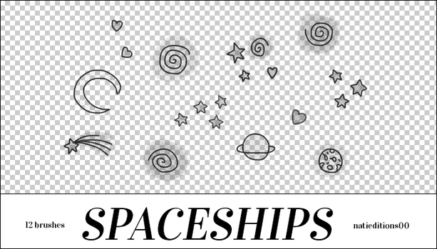 + Spaceships (12Brushes) by natieditions00