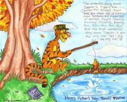 Fishin' is What Tiggers Do Best - Colored by EmilyCammisa