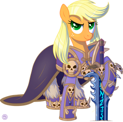 Applejack as Arthas the Lich King by StasySolitude