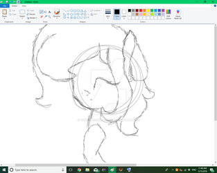trying to draw without the draw tablet by VanillaCandycane