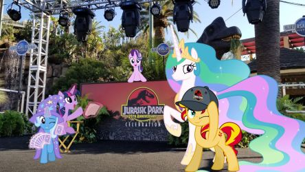 Ponies at Jurassic Parks 25th Anniversary festival by Itsfortoo