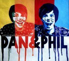 Danisnotonfire and Amazingphil painting by FailDuck