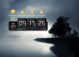 Flip Weather Clock for xwidget by Jimking