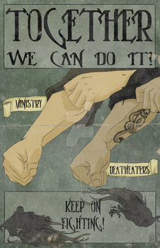 Together We Can Do It propaganda poster by BrotherToastyCakes