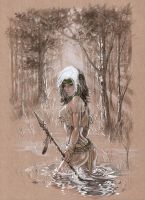 Savage Land Rogue 's glistening ASS in copic eBas by ebas