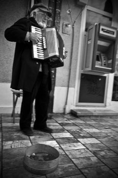 The Accordion Player by gocemk