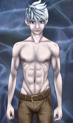Jack frost, a male body study. by Rubeyz2