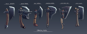 Orkish Axes - game items designs by RGBfumes