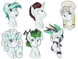 The Manes of Rarity by Doodle-Mark