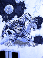 Day 5 - Wolfman by Afroblue72