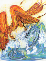 Fire vs. Water - Air and Sea by Nomati