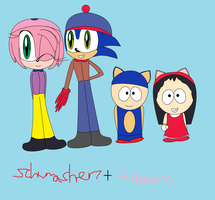 Collab: Stendy And SonAmy Outfit Swap by schumacher7