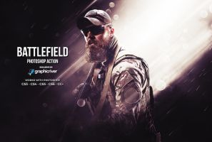 Battlefield Photoshop Action by hemalaya