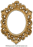 Vintage Gold and Silver Frame - Oval by EveyD