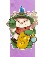 Lucky Cat Teemo by zhivagooo