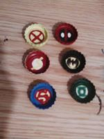 Marvel and DC Character Hair Bow Charms by wolf-girl87