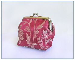 Red Orient purse by restlesswillow