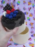 Fruit-medly Chocolate cake by Juju-gurl