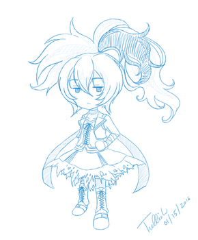 January Sketch: Flower Power (Vocaloid) by trelliah