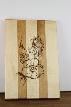 Wild Rose Cutting Board by JThomastheartist13