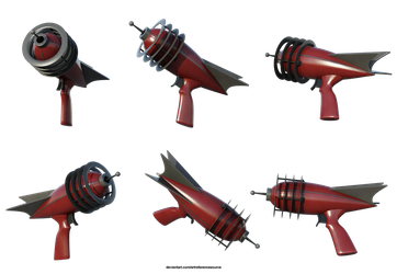 Free Stock PNG:  Retro Ray Gun by ArtReferenceSource