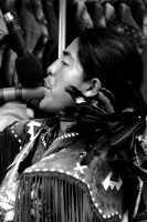 Native Flute Player by Earth-Hart