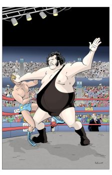 Andre The Giant - Color by RobotGorilla