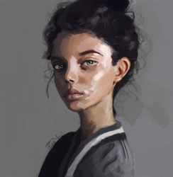 First Study   Portrait of a Girl by Pimmu