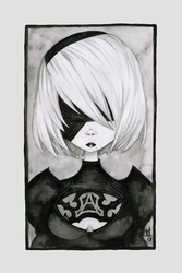 Nier: Automata - 2B by willymerry
