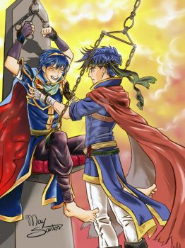 Marth and Ike (tickle) by MaysSantos