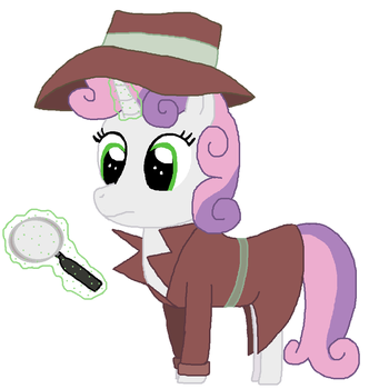 Special Artwork 2018 No 2 -Detective Sweetie Belle by ThomasZoey3000