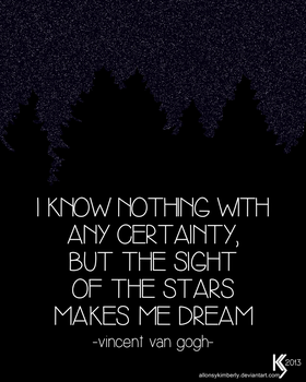 Van Gogh Quote by allonsykimberly