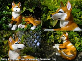 Latchme Wolf Sculpture by WildSpiritWolf